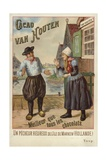Van Houton Chocolate - Dutch Couple Giclee Print