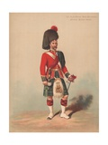 The Black Watch, Royal Highlanders, Officer, Review Order Giclee Print