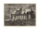 Burning of the Old Opera House, Paris Giclee Print