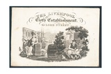 The Liverpool Cloth Establishment, Trade Card Giclee Print
