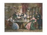 Le The, the Tea Party Giclee Print by Achille Deveria