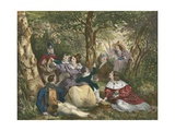 La Partie De Campagne, the Country Excursion Giclee Print by Achille Deveria