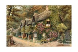 Thatched Cottages, Blackpool Sands, S Devon Giclee Print by Alfred Robert Quinton