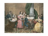 Soiree Musicale, Musical Evening Party Giclee Print by Achille Deveria