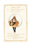 Hoop La, Christmas Card Giclee Print