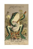 Frog Playing Banjo Giclee Print