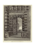 Egypt - Gate to the Al-Azhar Mosque Giclee Print by Carl Friedrich Heinrich Werner