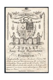 J Burley, Fancy Brush Manufacturer, Trade Card Giclee Print