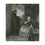 Juliet in the Cell of Friar Lawrence, Romeo and Juliet Giclee Print by Edgar Melville Ward