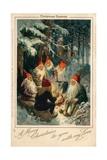 Christmas Gnomes Giclee Print