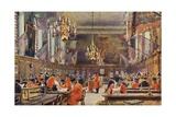 The Hall, Royal Hospital Chelsea Giclee Print by Charles Edwin Flower