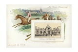 Horse Racing Near Paris, Chateau De Chantilly Giclee Print