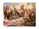 A Carpet Fair at Astrakhan Giclee Print by Frederic De Haenen