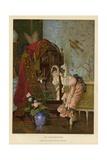 Coquetry Giclee Print by Vincente Gonzalez Palmaroli