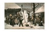 The Snow Bear-Schoolboy Pastime Near Bern Giclee Print by Albert Anker