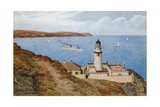 Douglas Head Lighthouse, Isle of Man Giclee Print by Alfred Robert Quinton