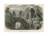 Glastonbury Abbey, Interior, from the West Giclee Print by Alexander Francis Lydon