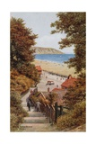 Steps to the Beach, Filey Giclee Print by Alfred Robert Quinton