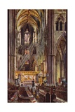 The Choir, Westminster Abbey Giclee Print by Charles Edwin Flower
