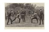 Bayonet-Fighting at Aldershot Giclee Print by Frank Dadd