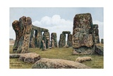Inner and Outer Circle, Stonehenge Giclee Print by Alfred Robert Quinton