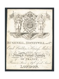 Bushnell, Honeywell and Co, Coach Builders and Harness Makers, Trade Card Giclee Print
