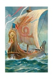 Anglo-Saxon Ship Giclee Print