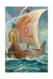 Anglo-Saxon Ship Stampa giclée
