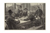 A Game at Dominoes Giclee Print by Davidson Knowles