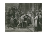 Wolsey at Leicester Abbey, Henry Viii Giclee Print by Charles West Cope