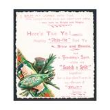 Bottle of Split Soda, Christmas Card Giclee Print