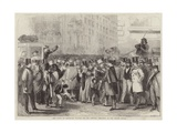 The Crowd at Baltimore Waiting for Mr Lincoln Giclee Print by Thomas Nast