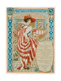 And Ordering Her United State Coach Giclee Print by Walter Crane
