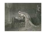 Lear and Cordelia, King Lear Giclee Print by Marcus Stone