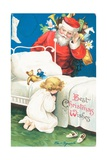 American Christmas Card Giclee Print by Ellen Hattie Clapsaddle