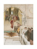 Waiting an Audience with Agrippa Giclee Print by Sir Lawrence Alma-Tadema