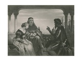 Othello Relating His Adventures, Othello Giclee Print by Charles West Cope