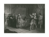 The Quarrel of Wolsey and Buckingham, King Henry Viii Giclee Print by Solomon Alexander Hart