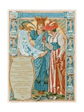 She Is Conducted by Chicago to the World's Fair Giclee Print by Walter Crane