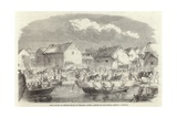 The Landing of British Troops at Pehtang Giclee Print by Charles Wirgman