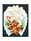 Bells and Flowers on Horseshoe, Card Giclee Print