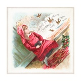 Feeding the Birds, Christmas Card Giclee Print