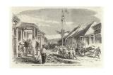 Punjaub Street Giclee Print by Charles Wirgman