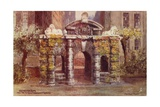 Old Water Gate from the Victoria Embankment Gardens in London Giclee Print by Charles Edwin Flower
