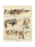 Miss Minnie Traver's Account of a Rattling Run Giclee Print by Ralph Cleaver