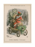 Father Christmas - 'Up-To-Date' Giclee Print by John Tenniel
