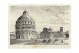 Cathedral Square, Pisa Giclee Print by Gustave Bauernfeind