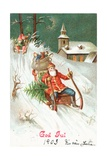 Father Christmas Giclee Print by German School