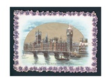 Houses of Parliament in Winter, Christmas Card Giclee Print