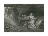 Imogen in the Cave, Cymbeline Giclee Print